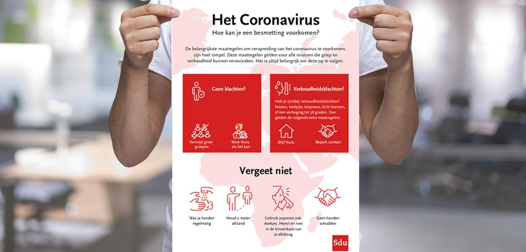 Poster: Maatregelen tegen verspreiding Coronavirus